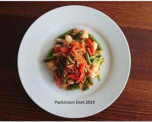 Fibre and keto dinner example for Parkinson's