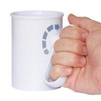 rotatable grip mug